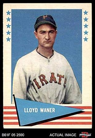Amazoncom 1961 Fleer 84 Lloyd Waner Pittsburgh Pirates