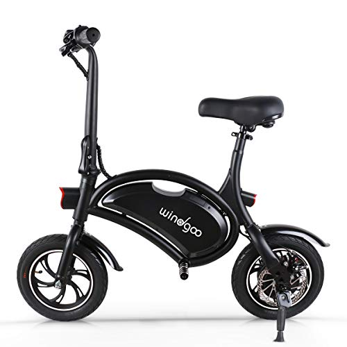 Windgoo Electric Scooter 12 inch 36V Folding E-bike with 6.0Ah Lithium Battery, City Bicycle Max Speed 30 km/h, Disc Brakes (Black)