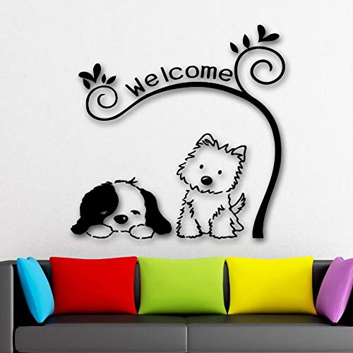 WWYJN Wall Stickers Dog Cute Animal Pet Welcome Wall Decal ...