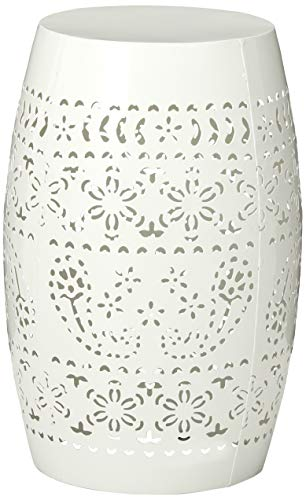 Christopher Knight Home Cassie Outdoor 12 White Iron Side Table