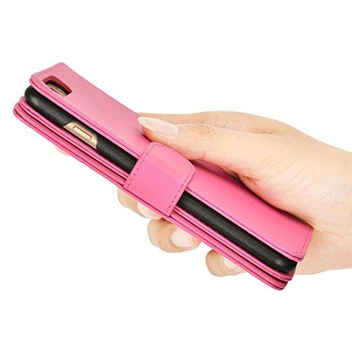 GHC Cases & Covers, Plain Weave Texture Horizontale Flip Leder Tasche mit Card Slots & Wallet & Lanyard, für iPhone 7 Plus ( Size : Ip7p7780m )