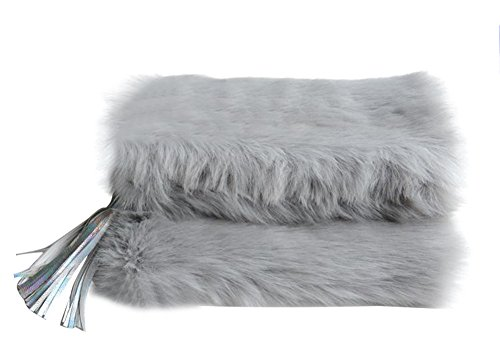 Faux Clutch Without Women's Evening Bag Runway Mogor Chain Handbag Fur Purse SR4qg5