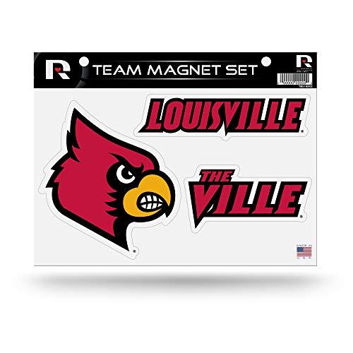 Rico Industries NCAA Louisville Cardinals Die Cut Team Magnet Set Sheet
