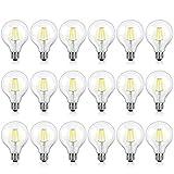 18-Pack G25 LED Vintage Globe Light Bulbs 40W Equivalent, 4W, E26 Edison Base Globe LED Bulbs, 470 Lumens, 4000K Daylight White, 360° Beam Angle, Non-Dimmable