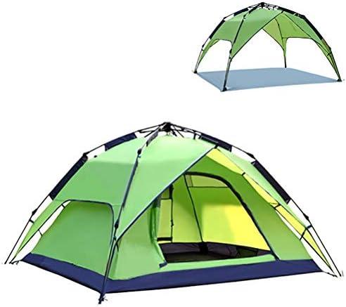 Automatische Strandtent Grote Pop Up Voor 3-4 Mensen/Draagbare Camping Sun Shelter/Rainproof Backyard Instant Canopy/Voor Familie Picknicks, Wandelen, Reizen,Green