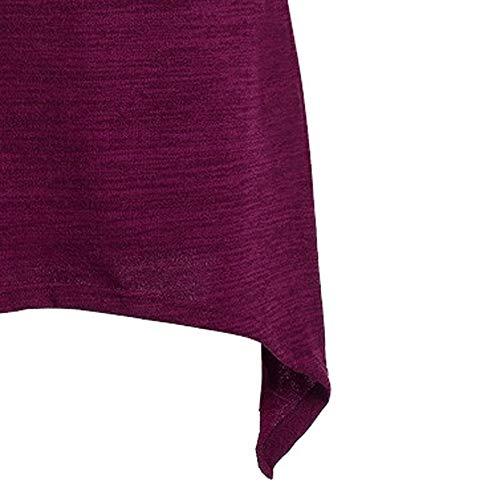 Maniche Irregolari A Autunnali Invernali Da Abito Longra Abiti Casuale  Maglione Viola Mini 3 In Off Donna Lunghe Shoulder Maglia Dress Felpa ... 01950a13719