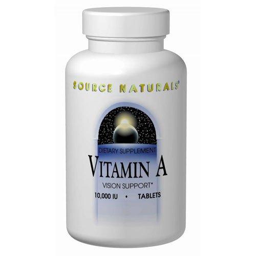 Source Naturals palmitate de vitamine A 10.000 UI, 250 comprimés