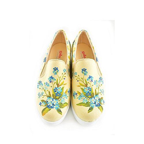 Goby Uk Flowers, Mocassini Donna Multicolor