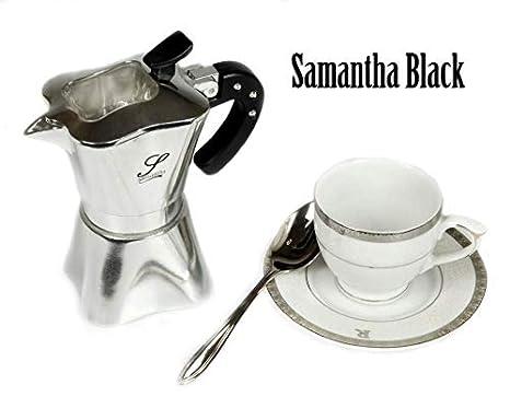 samantha black cafetera 2 tazas de plantilla: Amazon.es: Hogar