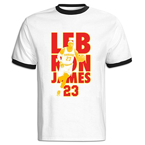 Jade Men's Two-toned T-shirts-Classic LeBron 23# James Basketabll Player Black Size XXL (Lebron 13 Halloween)