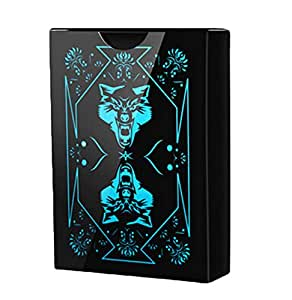 Waterproof PVC Poker Playing Cards Poker Card with Black Backing in Box (black)
