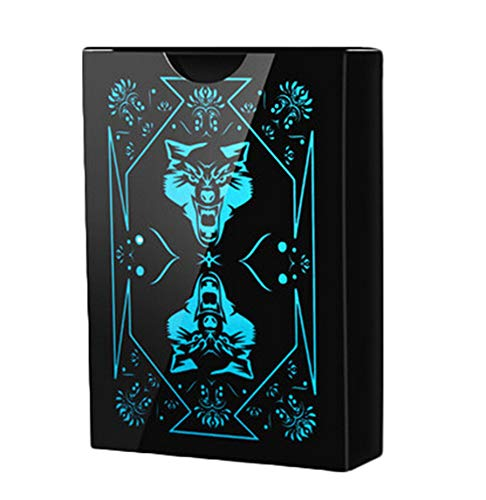 Waterproof PVC Poker Playing Cards Poker Card with Black Backing in Box -