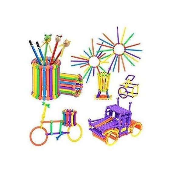 Barodian's Colorful Creative Plastic Straw Pipe Block