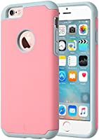 ULAK iPhone 6 Case, [Slim Fit] Sugar Candy [Anti-Slip] Drop Protection with Shock Absorbent [Hybrid PC & Silicone Case] Cover for Apple iPhone 6s / 6 - [Pink/Grey]
