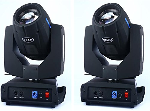 (Roccer 2Pcs/lot With Flight Case DMX 16/20 Channels 7R Sharpy Beam 230W Moving Head Light Black For Wedding Christmas Birthday DJ Disco KTV Bar Event Party Show (2Pcs With Flight Case ))