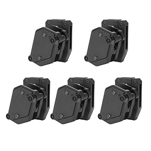 KRYDEX IPSC USPSA IDPA Competition Shooting Multi-Angle Adjustment Speed Shooter's Pistol Magazine Pouch Mag Holster Holder (BK 5 Pcs)