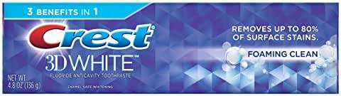 Crest 3D White Foaming Clean Whitening Toothpaste