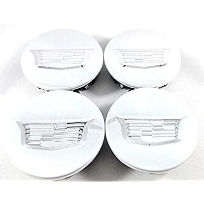 YOJOHUA 2.56 Inch Wheel Center Hub Caps for Cadillac, 65mm Chrome Center Cap Emblem for ATS CTS DTS SRX XTS XLR Wheels 4PCS (Silver): Automotive