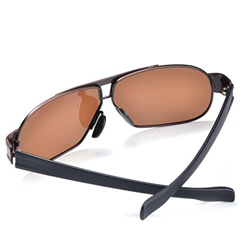 A-Roval Men Polarized Rectangular Large Driving Touring Metal - Hut Sunglass Store Coupons