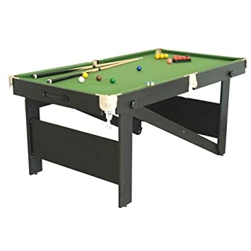 BCE Ft Rolling Lay Flat Snooker Table Amazoncouk Sports Outdoors - Rolling pool table