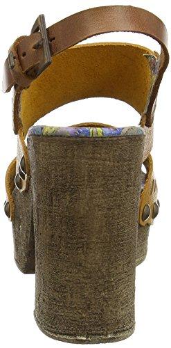 Bunker Soul - Sandalias con tacón Mujer Beige (Camel)