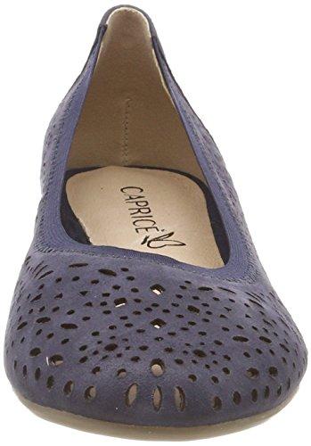 Caprice Ladies 22104 Ballerine Chiuse Blu (navy Pearl 812)