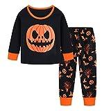 Csbks Toddler Kids Halloween Pajamas Black Boys