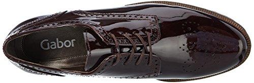 Femme Cognac Shoes Merlot Gabor Fashion Gabor Derby Rouge PUIvSxq