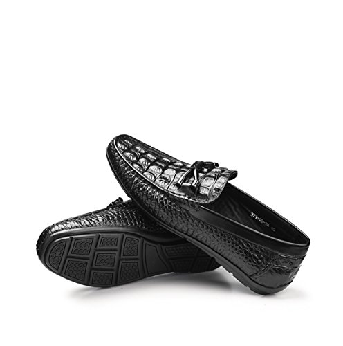 GRRONG Chaussures De Mode Pour Hommes Et Printemps Et Automne Black nomC0Fi