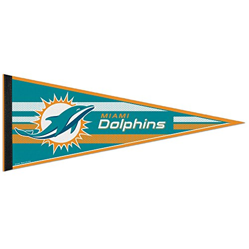 WinCraft NFL Miami Dolphins WCR63773413 Carded Classic Pennant, 12