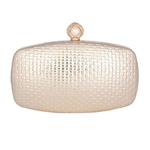 Metal Oval Clutch Prom Gold Evening Frame Damara Womens Knitting Bag RxwETdd6