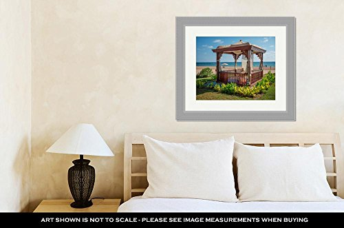 Ashley Framed Prints A Cozy Wooden Sea Bower On The Beach, Wall Art Home Decoration, Color, 26x30 (frame size), Silver Frame, AG6454249 by Ashley Framed Prints (Image #2)
