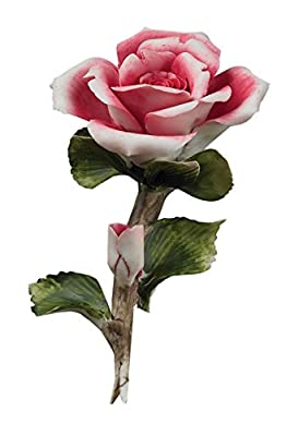 Collectible Figurine - Pink Porcelain Rose, Flower Décor