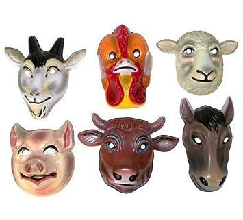 Lote/Conjunto de 3 Piezas - Máscara de Animales de Granja Casco para niños