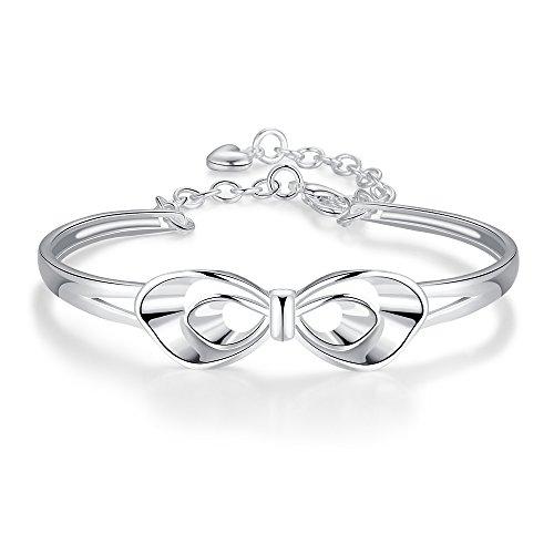 9f57ef33b07c 85%OFF Ecloud Shop® Chapado en plata romántica mariposa nudo charm ...