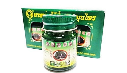 Glorious Natural - Size 15g. X 3 pcs.BOTTLE THAI HERBAL WAX GREEN BALM NATURAL HERB EXTRACT THAI MASSAGE BALM