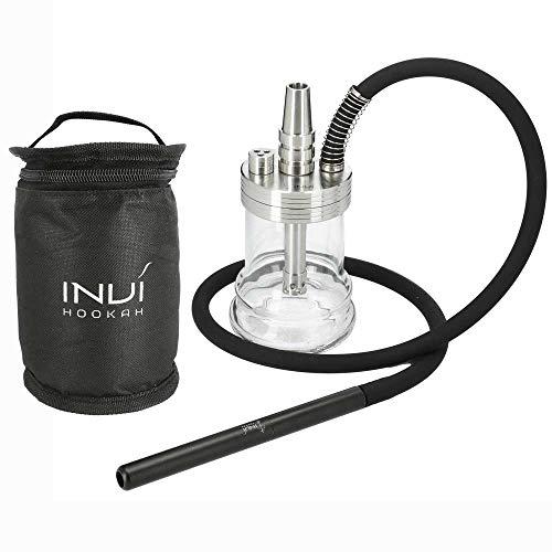 INVI® Nano Black Edition Shisha Set Mit Reisetasche – Inklusive Schlauch & Adapter – Shisha Zubehör Mit Dichtungen…