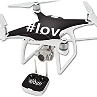 Skin For DJI Phantom 4 Quadcopter Drone – Love 2 | MightySkins Protective, Durable, and Unique Vinyl Decal wrap cover | Easy To Apply, Remove, and Change Styles | Made in the USA