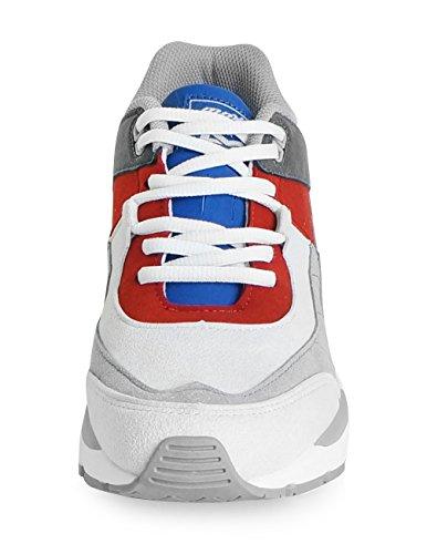 Mnx15 Mens Ascensore Scarpe Altezza Aumento 2.4 Ace Sneakers Grigio Zeppa Scarpe Da Tennis Tacco Alto Grigio