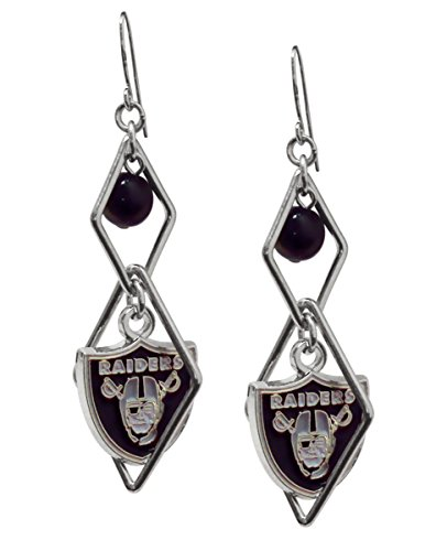 NFL Oakland Raiders Triangle Logo Dangler Earrings