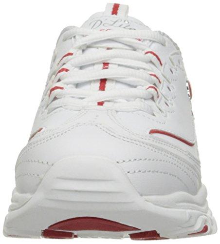 Skechers Slipon Mule Dlites Rouge Sneaker Tci Sport Blanc qwqFx6ASa
