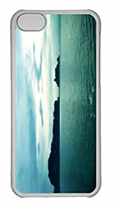 iPhone 5C Case, Personalized Custom Blue Day 2 for iPhone 5C PC Clear Case