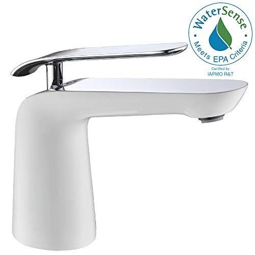 (ANZZI Etude Single Hole and Single Handle Bathroom Sink Faucet in Commercial Polished Chrome   Vessel Basin Sinks Waterfall Deck Mounted cUPC Lavatory Faucet   Valve included   L-AZ017)