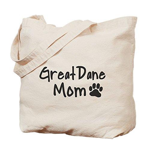 CafePress - Great Dane MOM - Natural Canvas Tote Bag, Cloth Shopping ()
