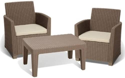 ALLIBERT 212428 Corona Balcony Salon de jardin avec 2 ...