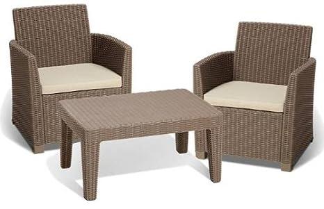 Allibert 212428 Corona Balcony Salon de jardin avec 2 fauteuils et ...