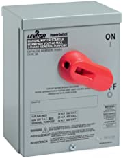 Leviton N36NC Type 3R Enclosure for 60 Amp Motor Starting Switch (Steel) (Gray)