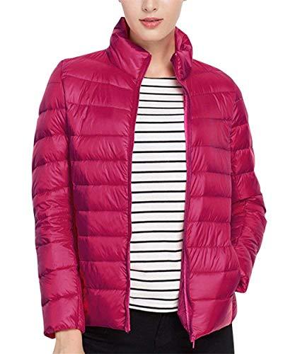 Outerwear avec Rose Printemps Doudoune Femme Unicolore Glissire Fit Fermeture Fashion S Manches Assez Size Slim Blouson Martinad Dcontracte Trendy Longues Quilting lgant Blouson Color nq0Cvqx1d