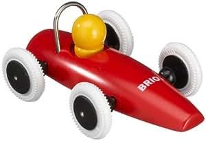 Brio 30077 - Coche de carreras de madera, color rojo