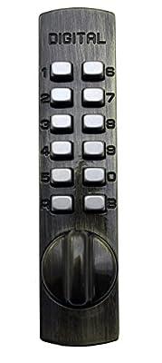 Lockey USA Mechanical Keyless Surface Mount Hook Bolt Lock for Sliding Door
